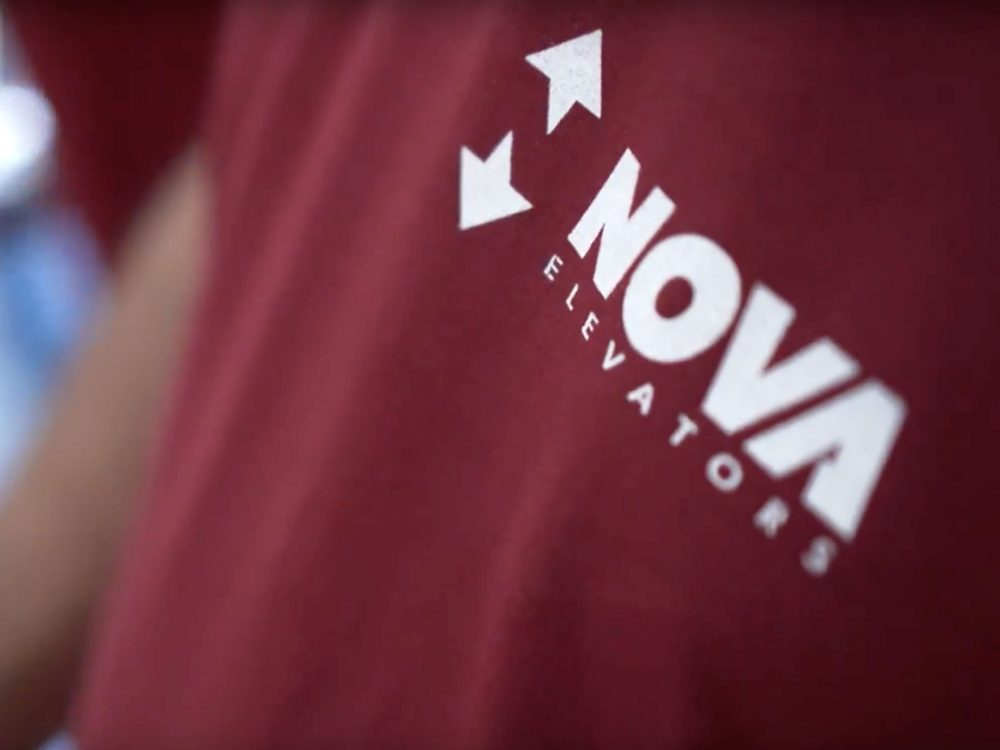 Nova elevators logotype t-shirt